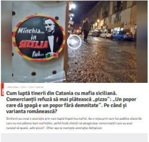 Cum luptă tinerii italieni cu mafia siciliană. Captură de pe site-ul Libertatea